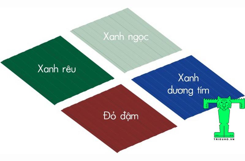 Bảng màu Tôn Cách Nhiệt EPS, Tôn Xốp EPS, Tôn Chống Nóng