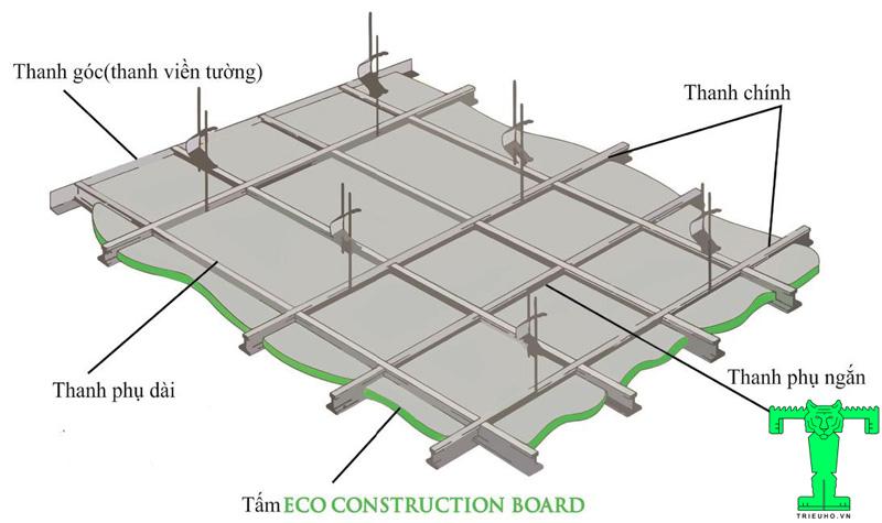 Trần chìm Tấm Trần Cách Nhiệt ECO XPS Board, Tấm Xốp Cách Nhiệt XPS FOAM