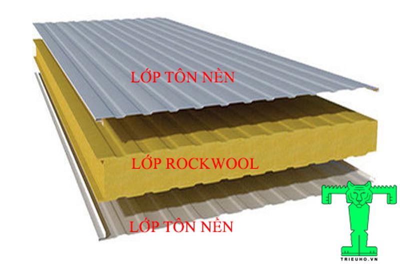 Cấu tạo Panel Rockwool, Panel Chống Cháy, Panel Bông Khoáng, Panel Cách Nhiệt