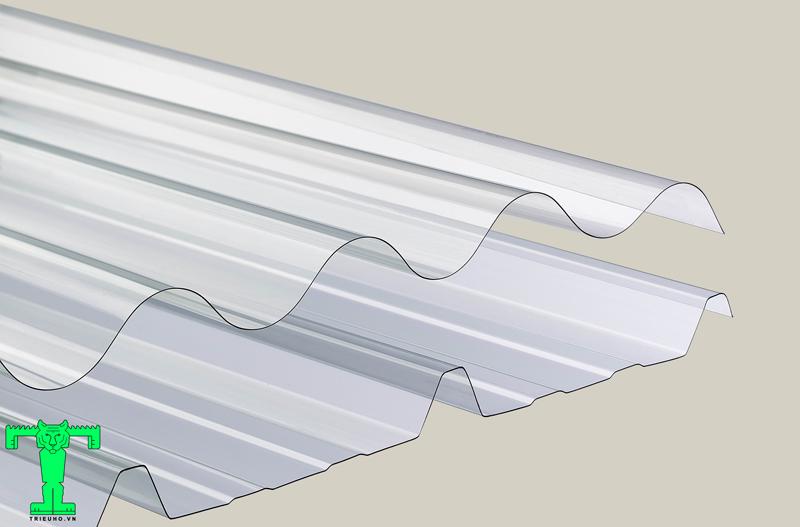 Tôn nhựa lấy sáng dạng vuông