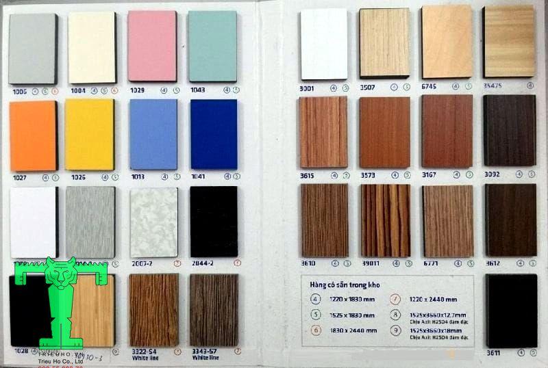Bảng màu tấm compact HPL
