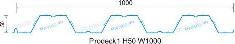 Tấm sàn deck sóng cao 50mm khổ 1000mm