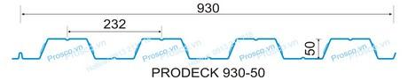 Tấm sàn deck sóng cao 50mm khổ 930mm
