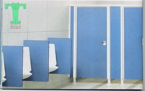 Quy trình thi công vách ngăn vệ sinh tấm Compact đúng cách