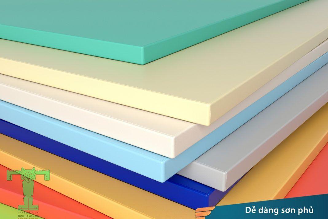 Tấm nhựa PVC dễ dàng thi công sơn phủ
