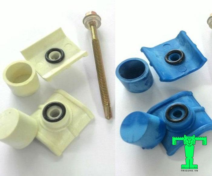 Phụ kiện tôn nhựa PVC bịt đầu vít này giúp bảo vệ đinh khỏi dột và gỉ sét