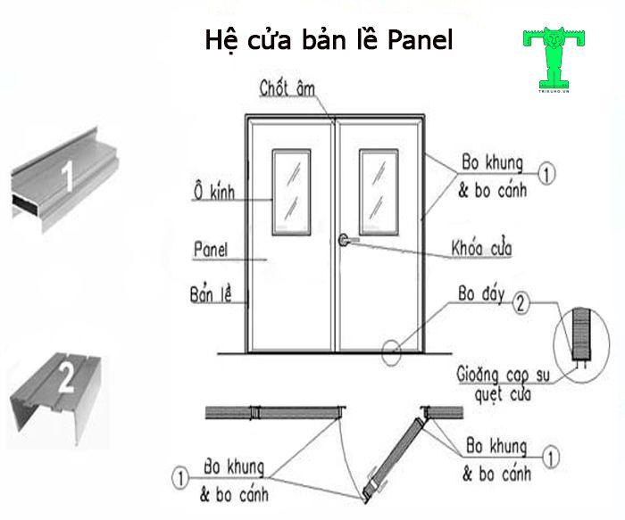 Phụ kiện Panel cho cửa bản lề giúp cho cửa có độ bền cao, cứng cáp, chắc chắn. Và đặc biệt là mang đến vẻ đẹp sang trọng cho công trình